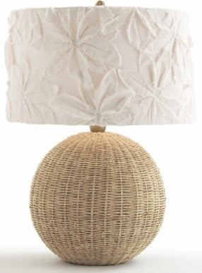 Flamingo Rattan Lamp contemporary table lamps