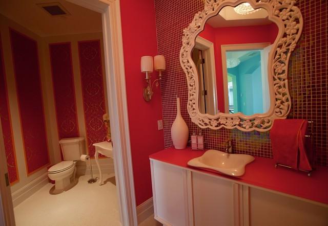 ванная бело красная фото | Дизайн