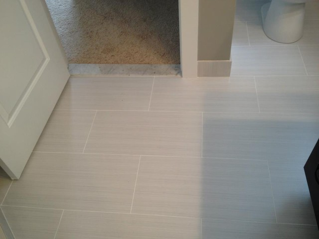Master bathroom 12x24 zera contemporary detroit by for Bathroom 12x24 tile