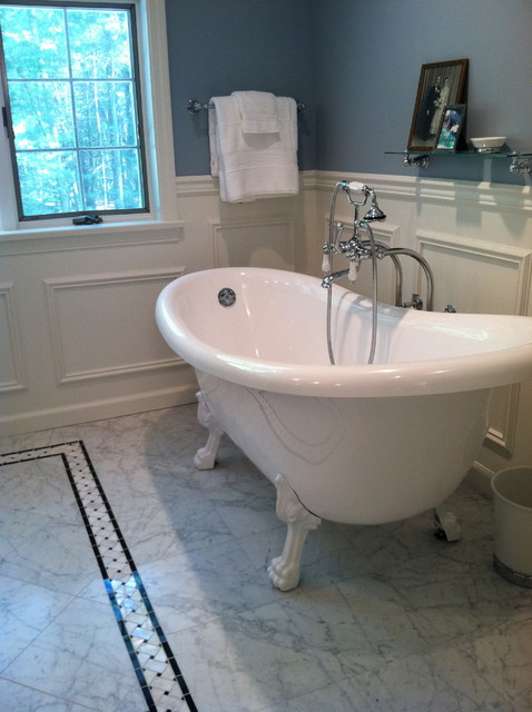 Master Bath Classic In Carrera Marble Victorian Bathroom