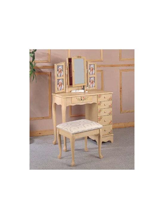 Bedrooms Furniture - 2-Piece Vanity Set