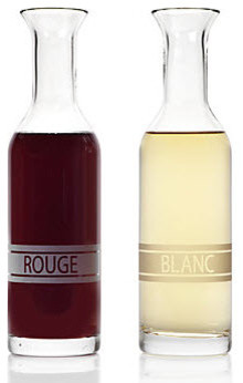 Blanc and Rouge Carafes serveware