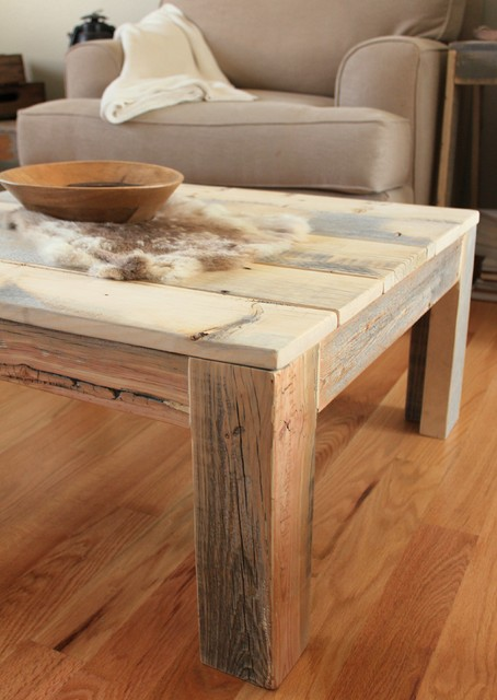 Reclaimed Wood Parsons Coffee table - Solid Wood Construction
