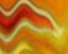 Red Orange And Yellow Glass Waves by Ben and Raisa Gertsberg - canvas art, art p modern-artwork
