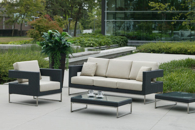 Patio furniture deep seating contemporary garden for Contemporary patio furniture