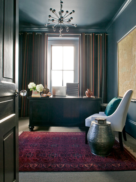 Raleigh north carolina transitional home office for Interior designs raleigh nc