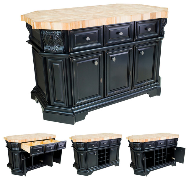 lyn design isl06 dbk black kitchen island without top