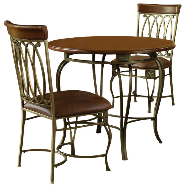 Hillsdale montello 3 piece dining room set traditional for 3 piece dining room set