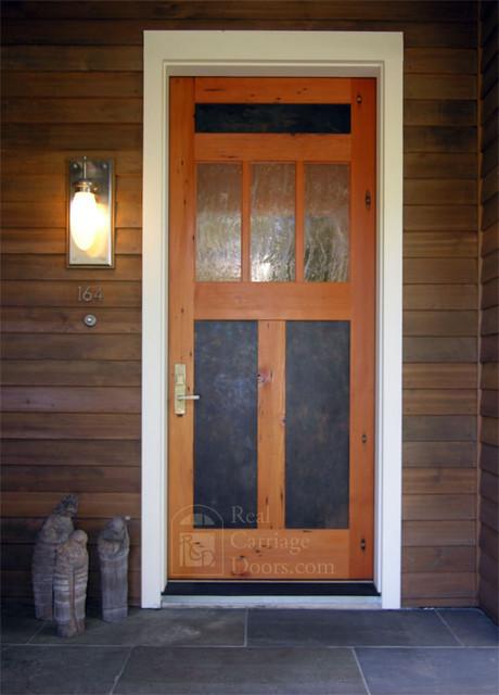 Lone Wolf Front Door eclectic-front-doors
