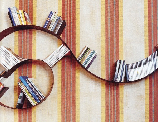 Ron Arad Bookworm Bookshelf eclectic wall shelves