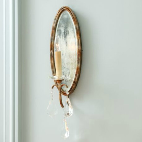 Marseille 1-Light Mirrored Wall Sconce traditional-wall-sconces