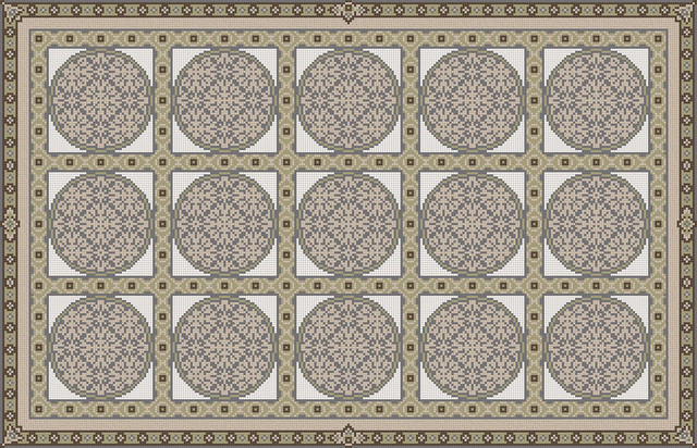 Medallion Mosaic Rug contemporary-wall-and-floor-tile