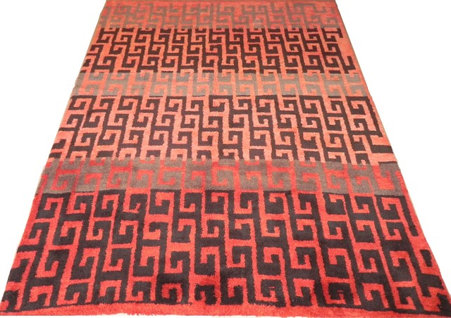 Vintage Moroccan Berber Rugs Reproduced in Custom Size&Colors, 8x10 ft in Stock traditional-rugs