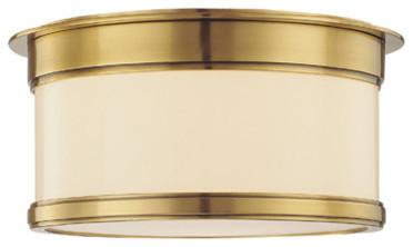 Hudson Valley Lighting Geneva 1-Light Flush Mount transitional-ceiling-lighting