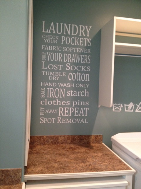 Laundry Subway Art Vinyl Wall Phrase By Vinyl Wall Decor