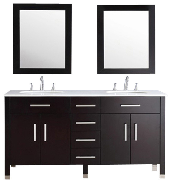 ... Bathroom Vanity with a Porcelain Countertop modern-bathroom-vanities