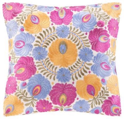 Laila Cotton Faux Linen Decorative Pillow modern-decorative-pillows