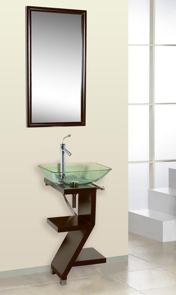 Contemporary Glass Vanity contemporary-bathroom-vanities-and-sink-consoles