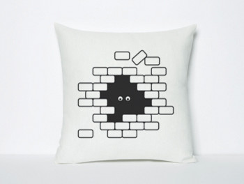 I see U U see me Pillow eclectic-decorative-pillows