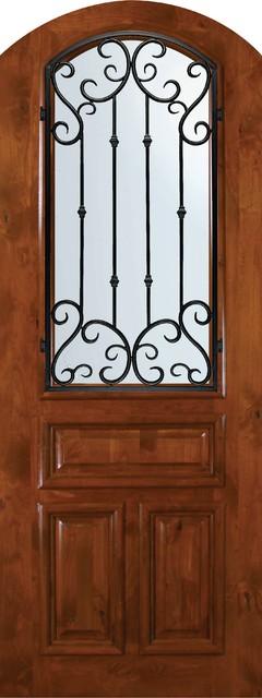 Slab Single Door 96 Alder Valencia Arch Top Arch Lite
