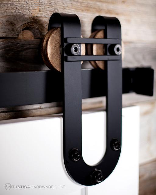 Horseshoe With Bar Barn Door Hardware modern-barn-door-hardware