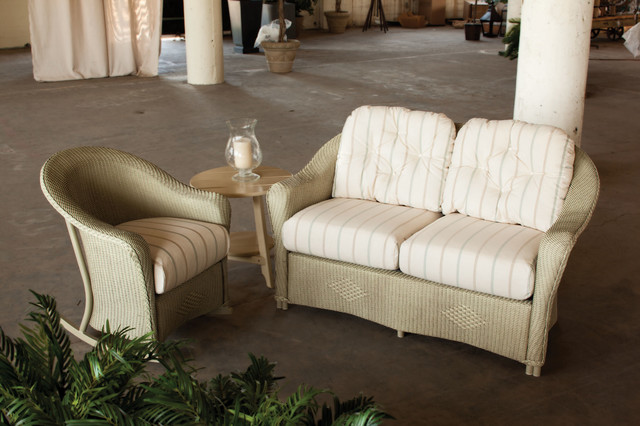 Lloyd Flanders Reflections Love Seat And Rocker Eclectic Patio Furniture And Outdoor