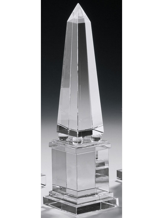 """Inviting Home - crystal obelisk (small) - large crystal obelisk 3"""" x 12-1/4""""H Incorporating Obelisks into Your Decor. The clean lines and simple elegance that crystal obelisks embody means that they are the ideal artistic touch in many types of room. A larger piece of this nature can complement a more significant room such as a living room and serve as a focal point that naturally draws the eye. Smaller versions of the crystal obelisks could readily serve as a harmonious part of a grouped display lending an exotic air to the scene and imparting the healing properties of crystal as well. Some designers and many mystics recommend crystal obelisks as an accessory in the bedroom where the natural properties of crystal can work their magic during restful slumber. Opening your eyes in the morning and letting your gaze fall upon the simple beauty of an obelisk can get your day off to an excellent start as well."""