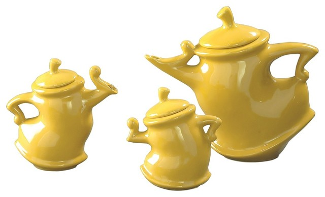 Canary Whimsical Tea Pots Contemporary Tea Sets By
