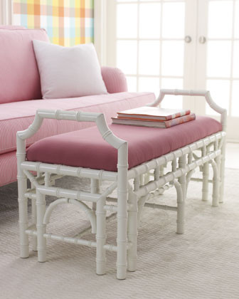Lilly Pulitzer Home Mizner Bench traditional-indoor-benches