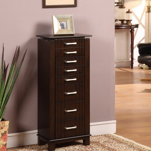 Champion Seven Drawer Jewelry Armoire in Mahogany - Modern - Jewelry ...