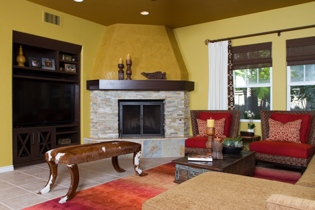 Colorful Casual Eclectic Living Room San Diego By Settings Interiors
