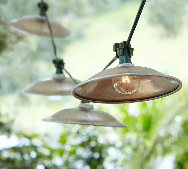Exterior Solar String Lights : Cafe String Lights - Eclectic - Outdoor Rope And String Lights - by Pottery Barn