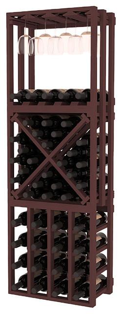 Lattice Stacking Cube - 3 Piece Set in Pine contemporary-wine-racks