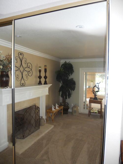 Replacing Trim On Mirrored Sliding Closet Doors
