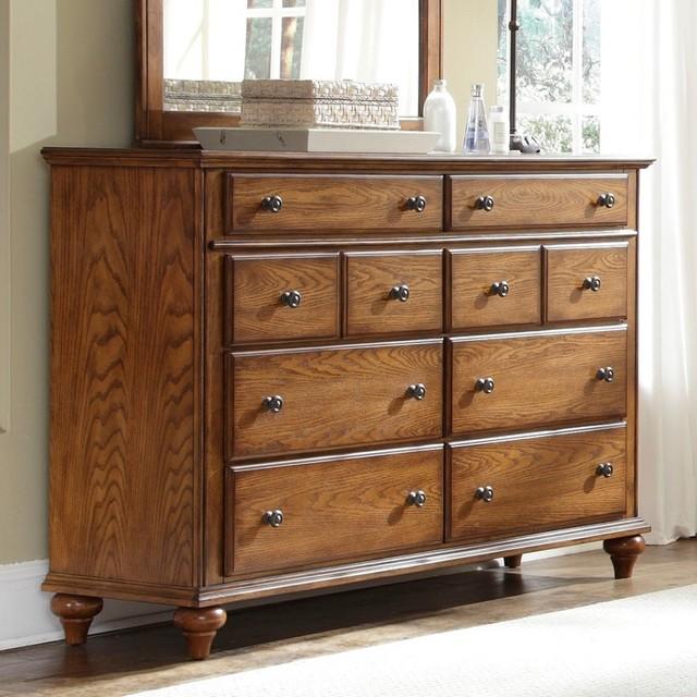 broyhill hayden place dresser in light cherry 4648 230 traditional dr. Black Bedroom Furniture Sets. Home Design Ideas