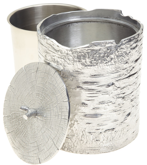 Michael Aram Bark Ice Bucket eclectic barware