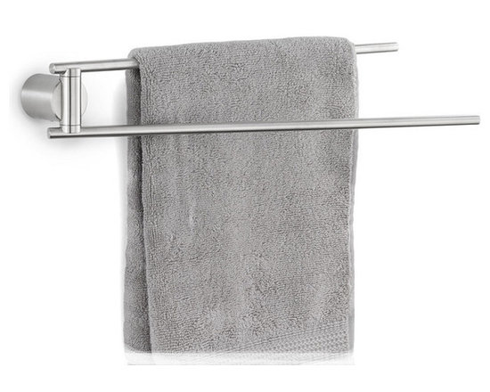 Blomus - Duo Towel Rail, Matte - Stainless steel. Mounting kit included. Available with a matte or a polished finish.