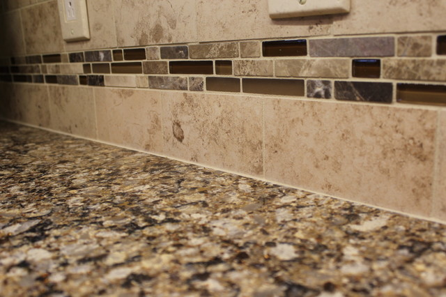 Cambria Canterbury Quartz Countertop And Tile Backsplash