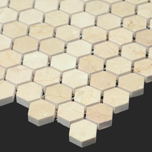 Elegant Tile With Black Grout  Token Decor Board  Pinterest  Honeycomb Tile