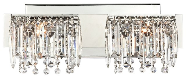Vanity Light Bar Crystal : Possini Euro Design Hanging Crystal 16 1/2