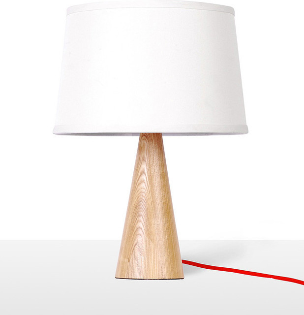stylish modern timber bedside table studying lamp home