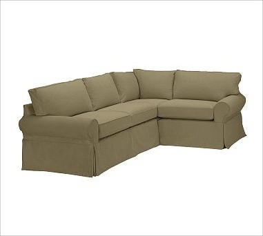 Pb basic left 3 piece small sectional slipcover for 3 piece sectional sofa slipcovers