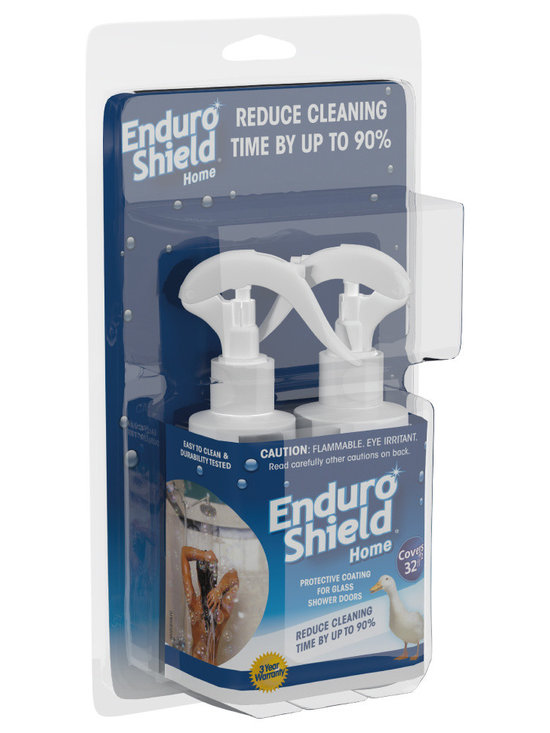 EnduroShield - EnduroShield Home Easy Clean Treatment 4.2 Oz Kit For Glass Showers & More - EnduroShield Home is an Easy Clean surface treatment for glass that is both water AND oil repellent. A single application lasts beyond 3 years and cuts cleaning time by up to 90%. Suitable for all indoor and outdoor glass surfaces including new or existing shower doors, mirrors, windows, doors, railings and backsplashes.