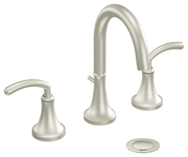 Moen Traditional Bathroom Faucet: Moen TS6520BN Icon Two Handle Widespread Bathroom Sink