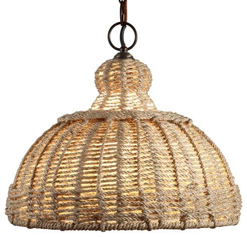 Jamie Young Lighting Pendant, Udaipur Jute eclectic-pendant-lighting