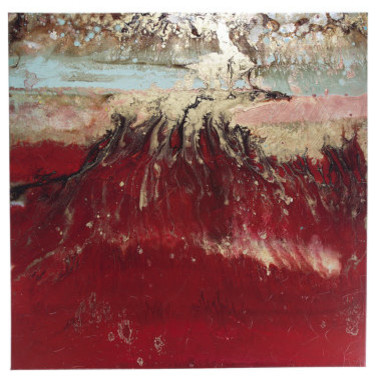 "Modern Paintings - ""Walk Through Fire"" family-room"