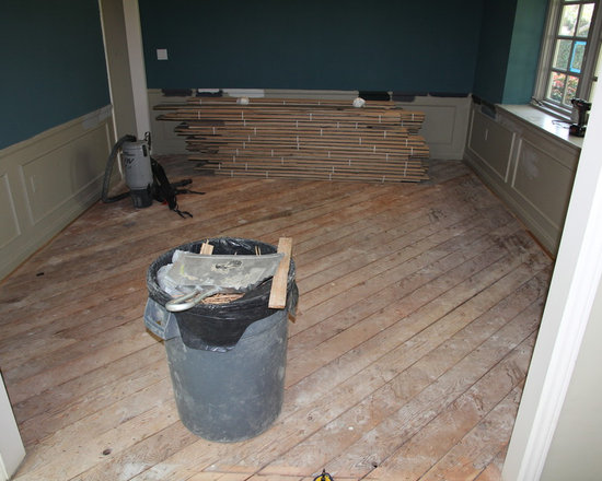 Residential remodel - Pacific Palisades - Old floor is removed. Raised foundation exposed prior to plywood installation.