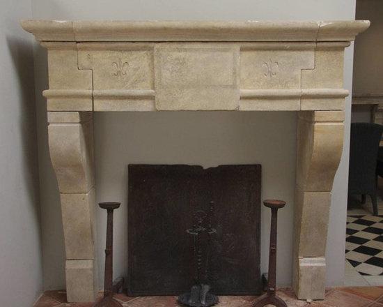 Installations - Custom hand carved Limestone mantle