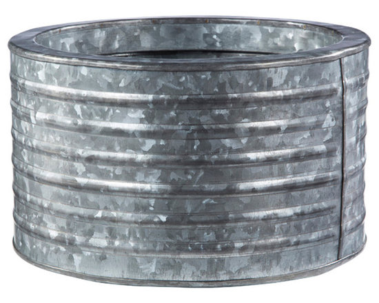 Rejuvenation: Exterior Lighting & Accessories - This durable Galvanized Steel Planter is where industrial chic and farmhouse style meet. Great for decks, patios and porches. More sizes available.