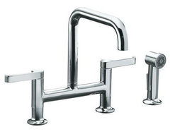 Kohler Torq Deck Bridge Faucet contemporary-kitchen-faucets